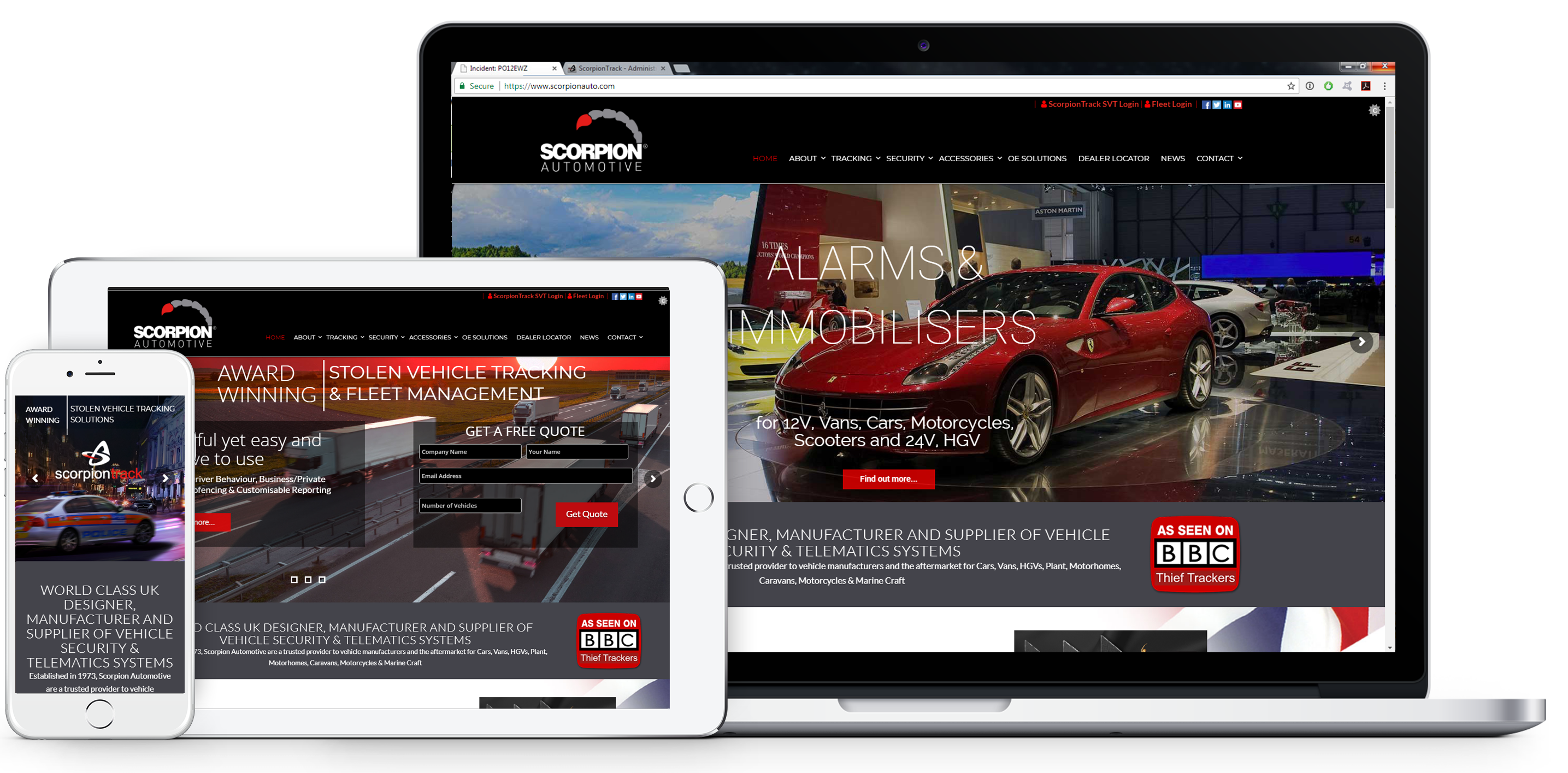 Scorpion Automotive website
