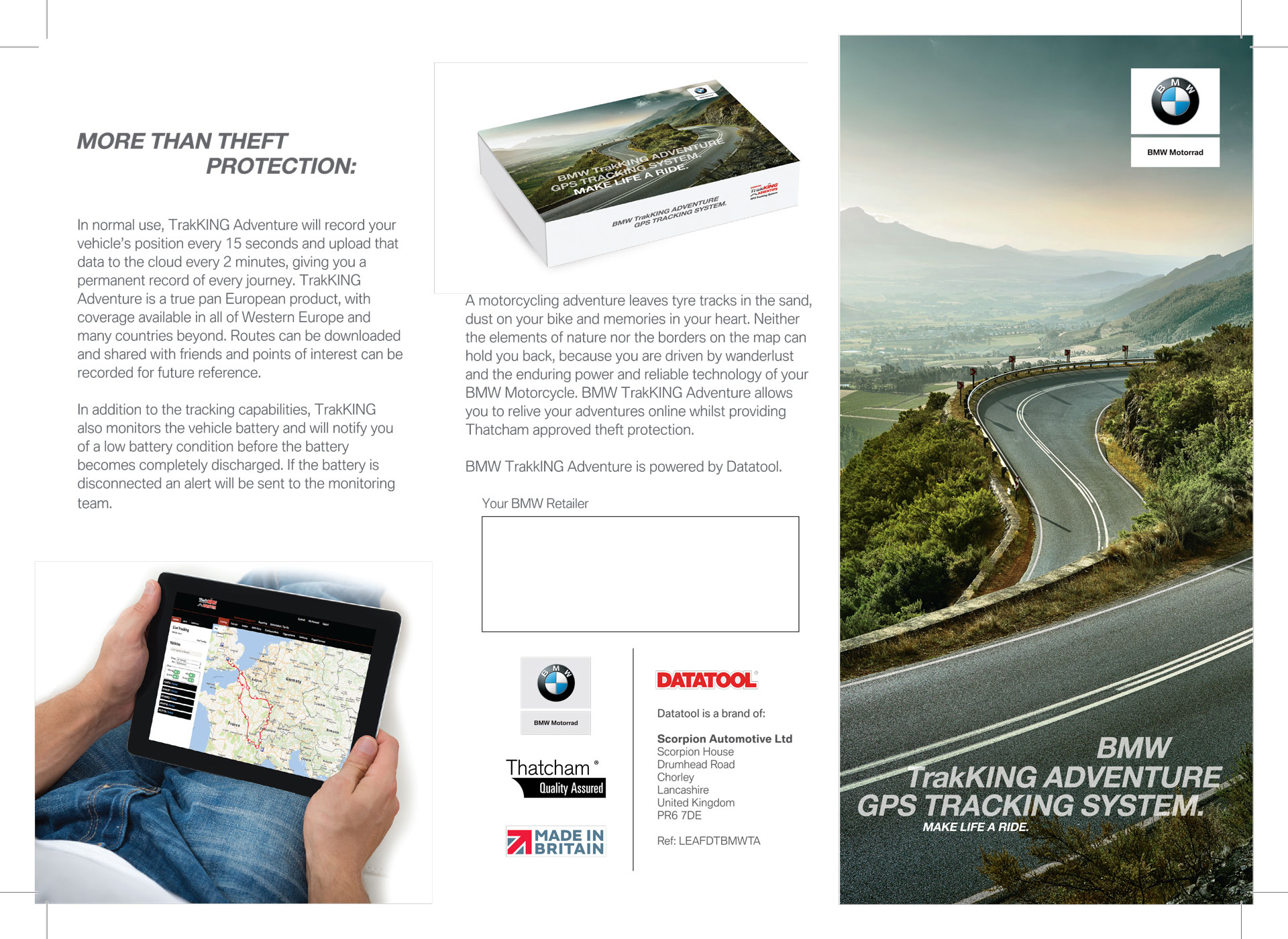bmw trakKing adventure leaflet