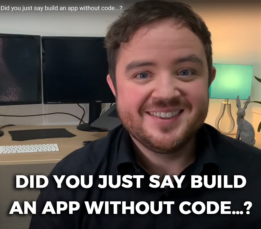 Did you just say build an app without code