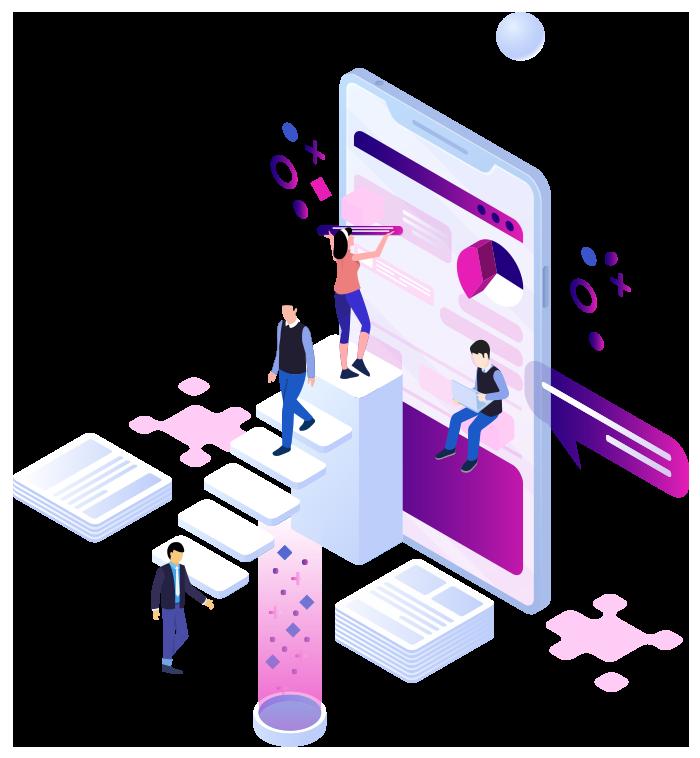people building an app